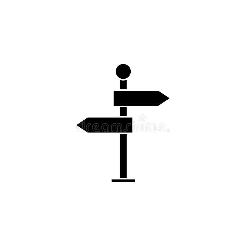 Voorzie stevig pictogram, navigatieverkeersteken van wegwijzers vector illustratie