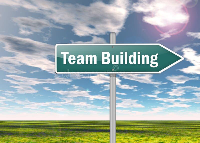 Voorzie Team Building van wegwijzers stock illustratie
