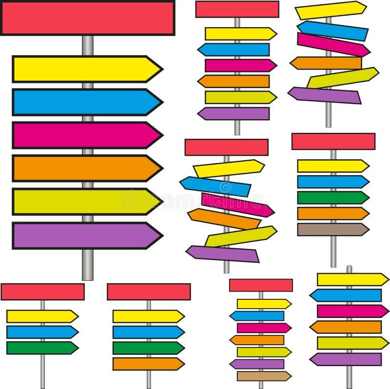 Voorzie Van Wegwijzers Stock Afbeelding