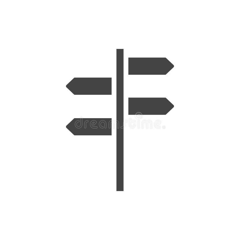 Voorzie vector van de pictogram de grafische ontwerpsjabloon van wegwijzers vector illustratie