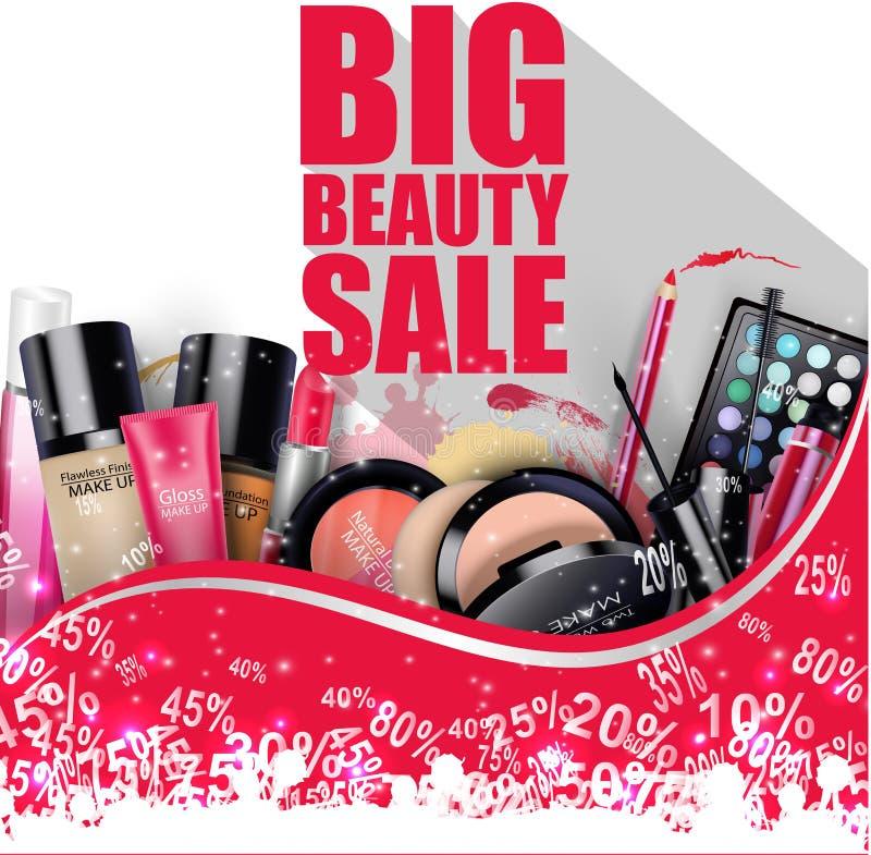 Voorzien Cosmetischee producten op witte achtergrond vector illustratie