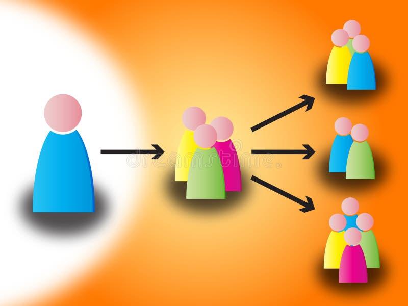 Voorzien van een netwerk vector illustratie