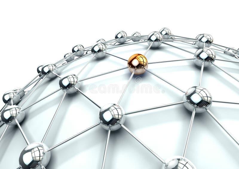 Voorzien van een netwerk stock illustratie