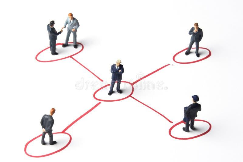 Voorzien van een netwerk stock foto