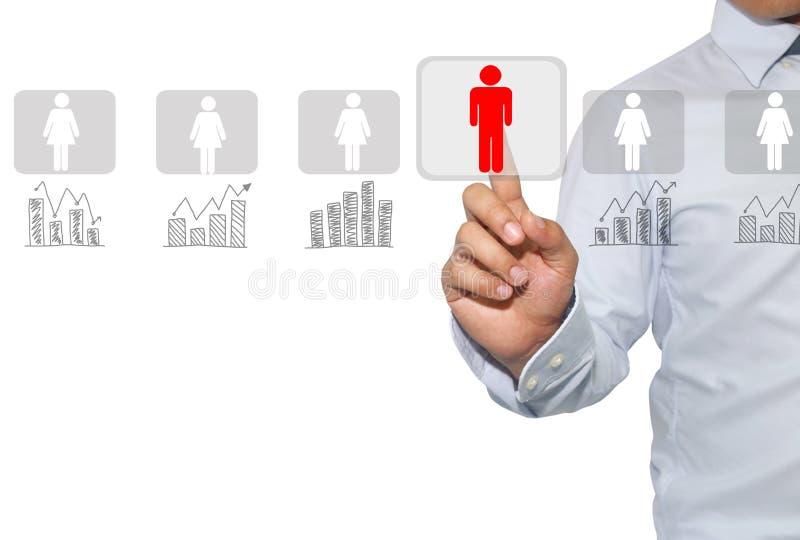 Voorzien van een netwerk en rekrutering in Personeel voor voor het exploiteren van gegevens, a stock afbeeldingen
