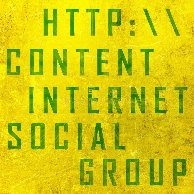 Voorzien van een netwerk verwante woorden stock illustratie