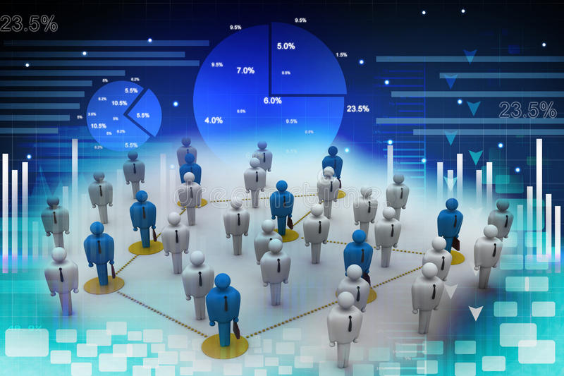 Voorzien van een netwerkmensen stock illustratie