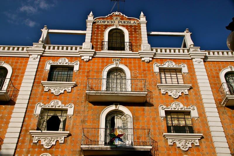 Voorzijde met talavera tegels, Puebla, Mexico royalty-vrije stock afbeelding