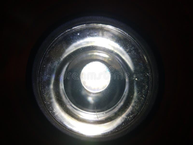Voorzijde van een flitslicht stock foto