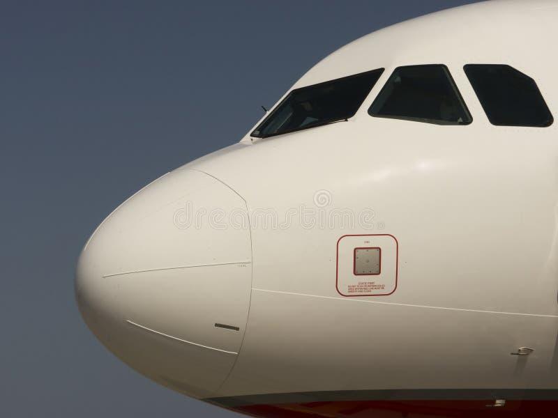 Voorzijde van een vliegtuig stock fotografie