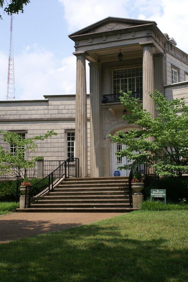 Voorzijde van Herenhuis Burrett stock foto