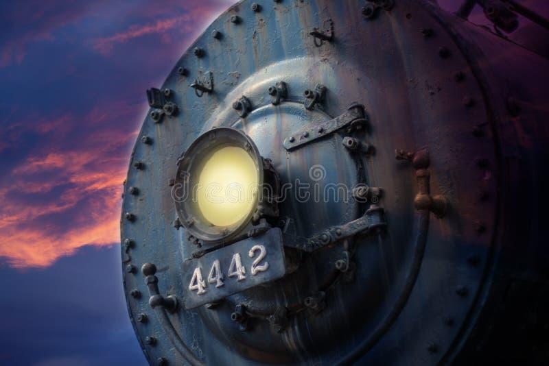 Download Voorzijde van locomotief stock foto. Afbeelding bestaande uit wijnoogst - 29508286