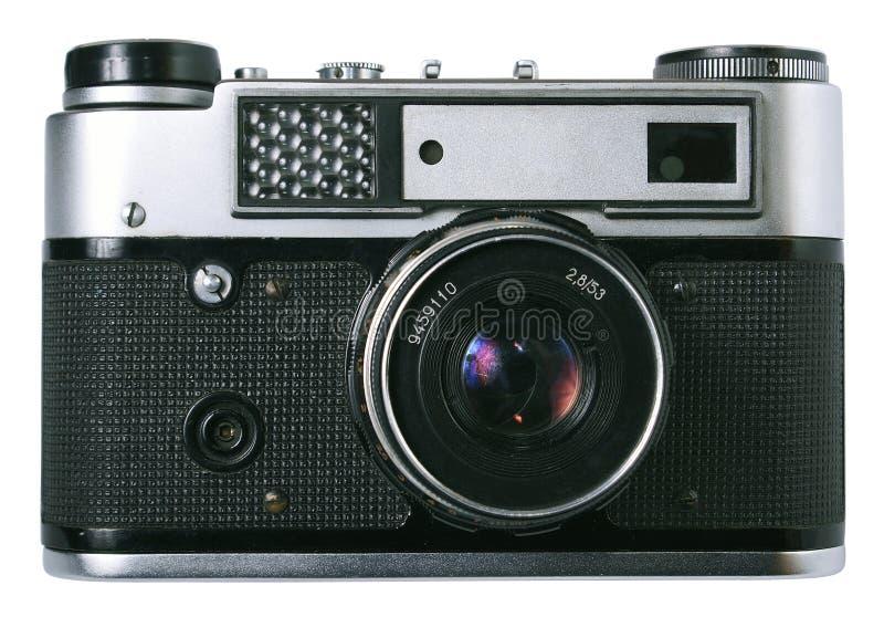 Voorzijde van oude fotocamera royalty-vrije stock fotografie