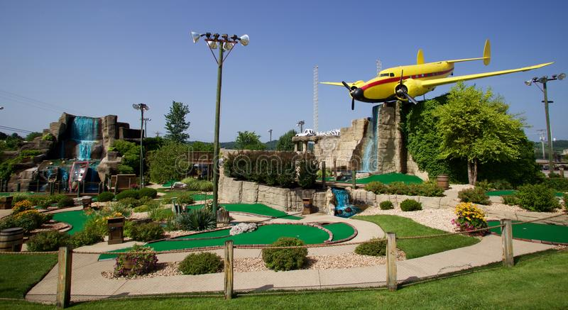 Voorzijde van Professionele Hakkers Mini Golf in Branson, Missouri royalty-vrije stock foto's