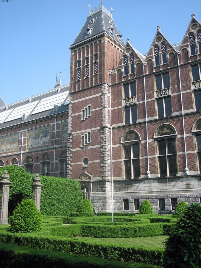 Voorzijde van Rijksmuseum royalty-vrije stock fotografie