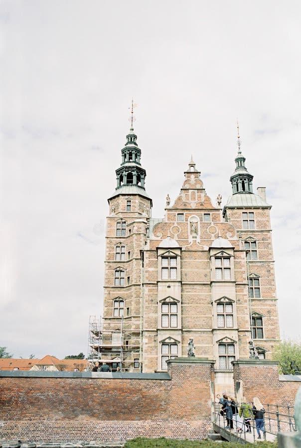 Voorzijde van Rosenburg-Groef in Kopenhagen Denemarken royalty-vrije stock fotografie