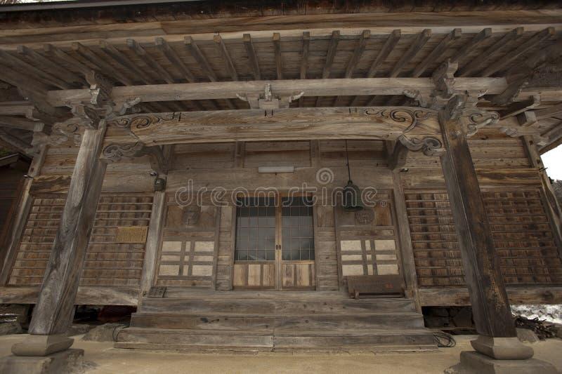 Voorzijde van Shinto tempel, Japan royalty-vrije stock foto