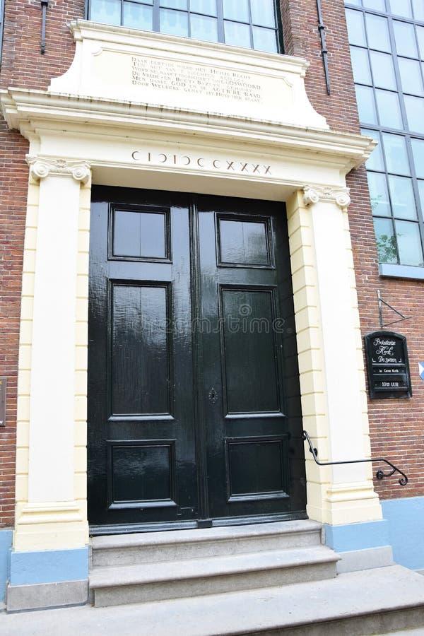 Voorzijden van Nederlandse huizen - Amsterdam, Holland, Nederland stock fotografie