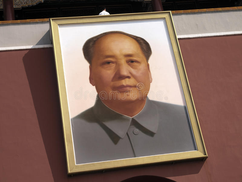 Voorzitter Mao - Poort van Hemelse Vrede - Peking royalty-vrije stock afbeeldingen