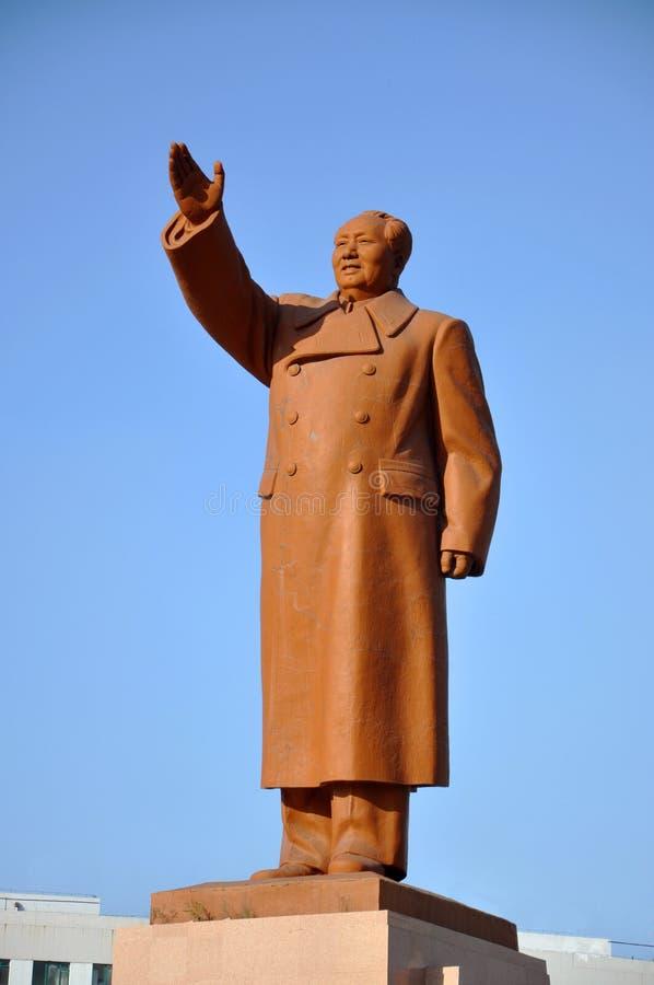 Voorzitter Mao Statue, Shenyang, China royalty-vrije stock fotografie