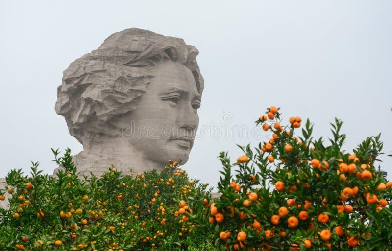 VoorzittersMao standbeeld in Tchang-cha stock foto