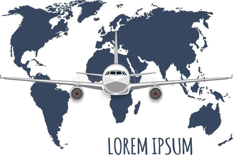 Voos do anúncio publicitário nos aviões ilustração royalty free