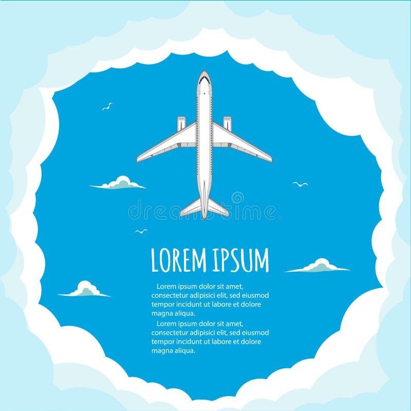 Voos do anúncio publicitário nos aviões ilustração do vetor