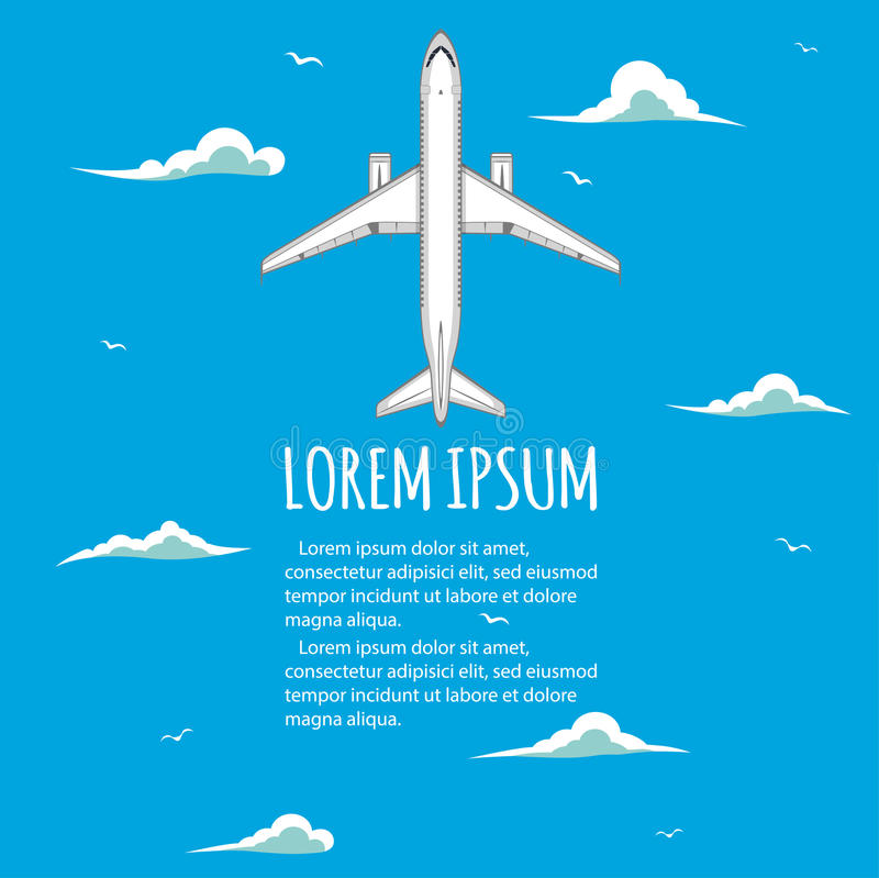 Voos do anúncio publicitário nos aviões ilustração stock