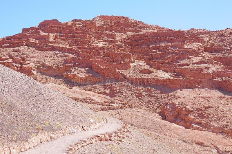 Vor--Cloumbian Ruinen zur heißen Tageszeit lizenzfreie stockfotografie
