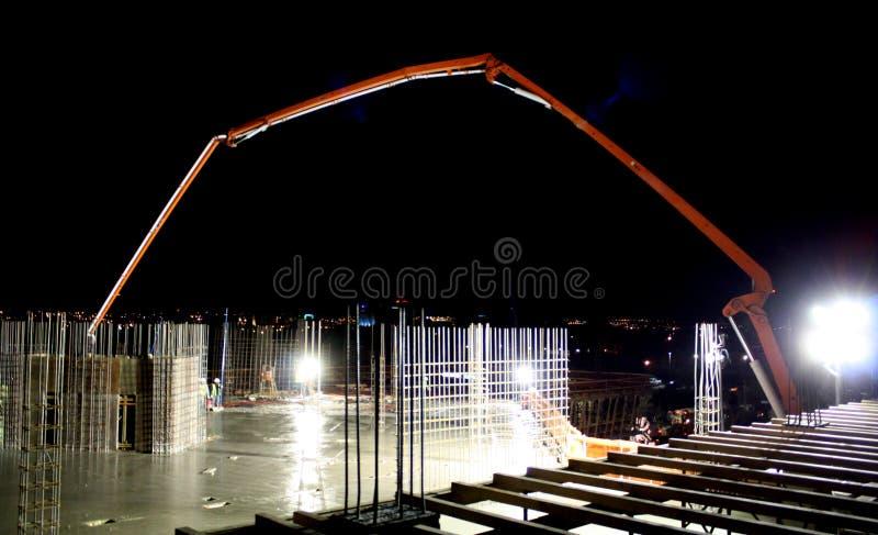 Vor-Dämmerungs-Beton laufen aus stockbilder