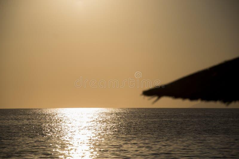 Vor dem Sonnenuntergang in Thasos-Insel Griechenland lizenzfreies stockfoto