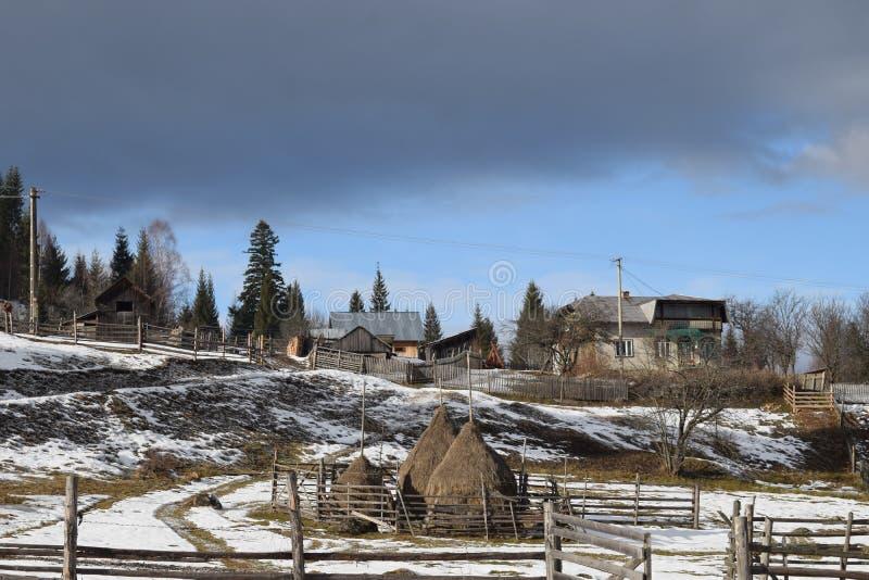 Vor dem Wintersturm stockfoto