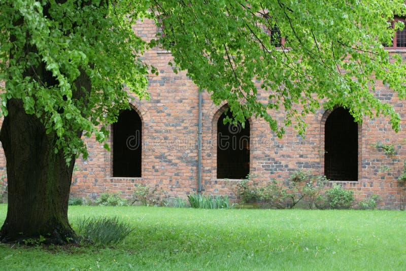 Vor Frue修道院,一个卡默利特平纹薄呢修道院在Elsinore Helsing 免版税库存图片