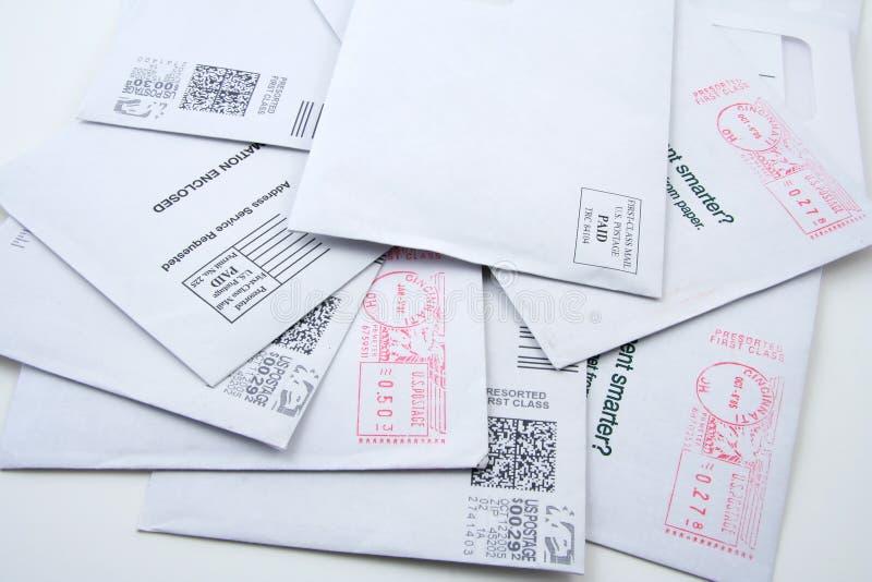 Vor-sortierte US-Post stockbilder