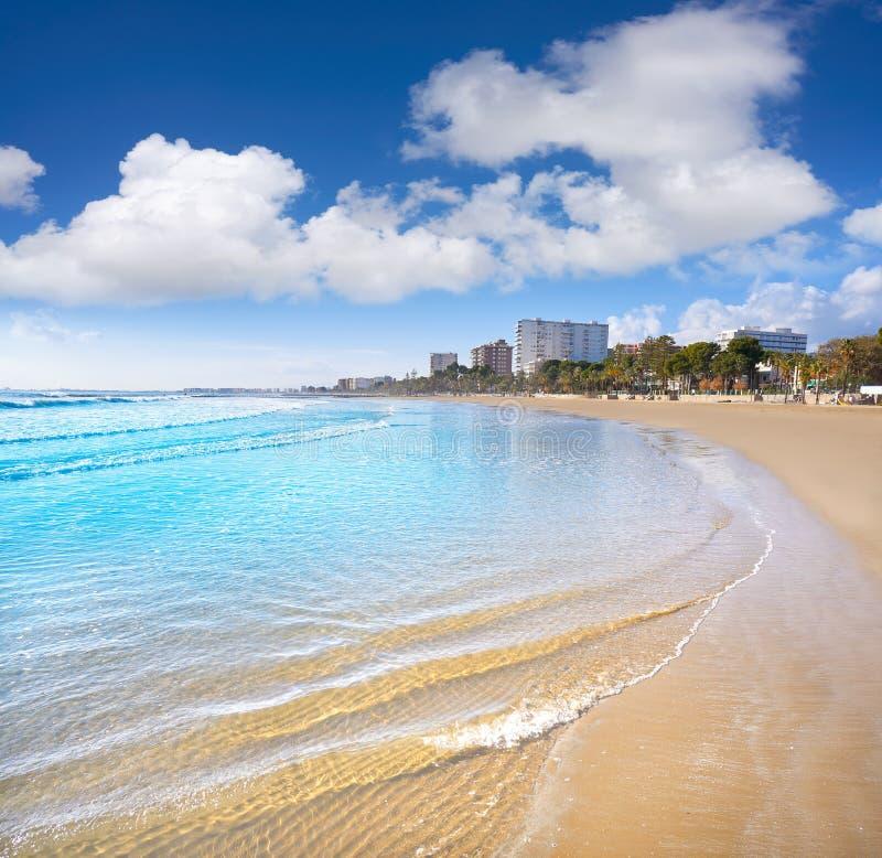 贝尼卡西姆Voramar playa海滩卡斯特利翁省 库存照片