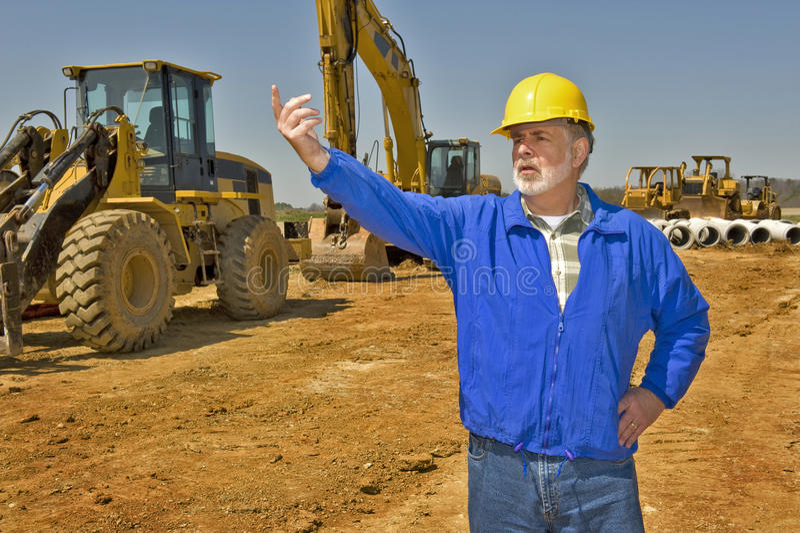 Vorarbeiter On Construction Site stockfoto
