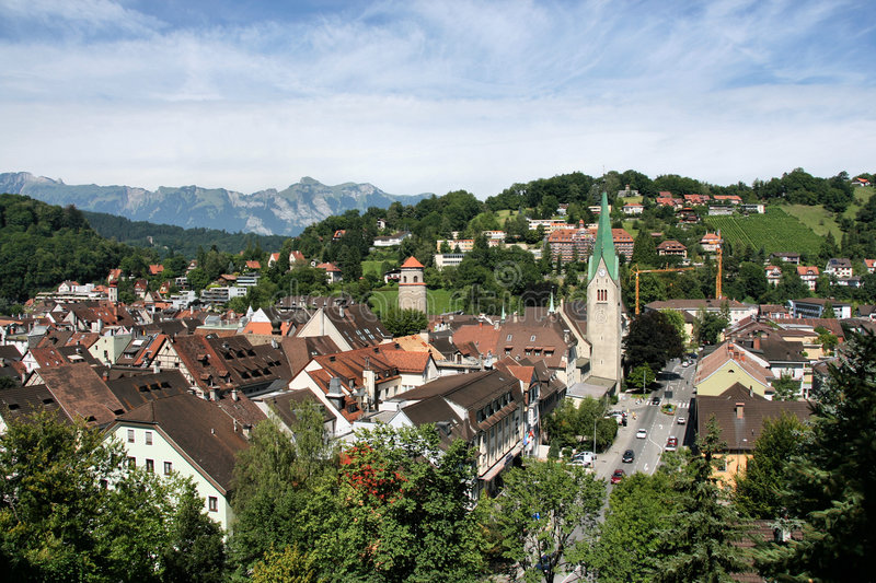 Download Vorarlberg stock image. Image of town, austrian, summertime - 6592553