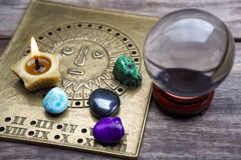 Voraussage der Zukunft durch Astrologie stockbild