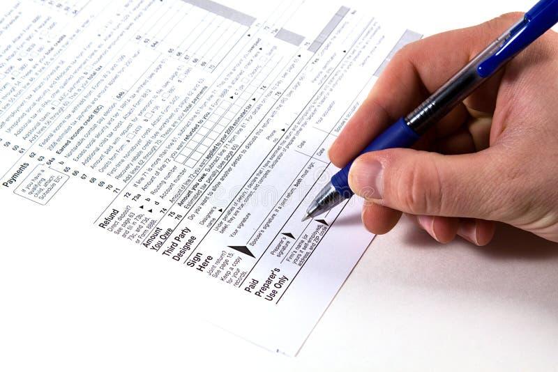 Vorbereiten von Steuern stockbilder