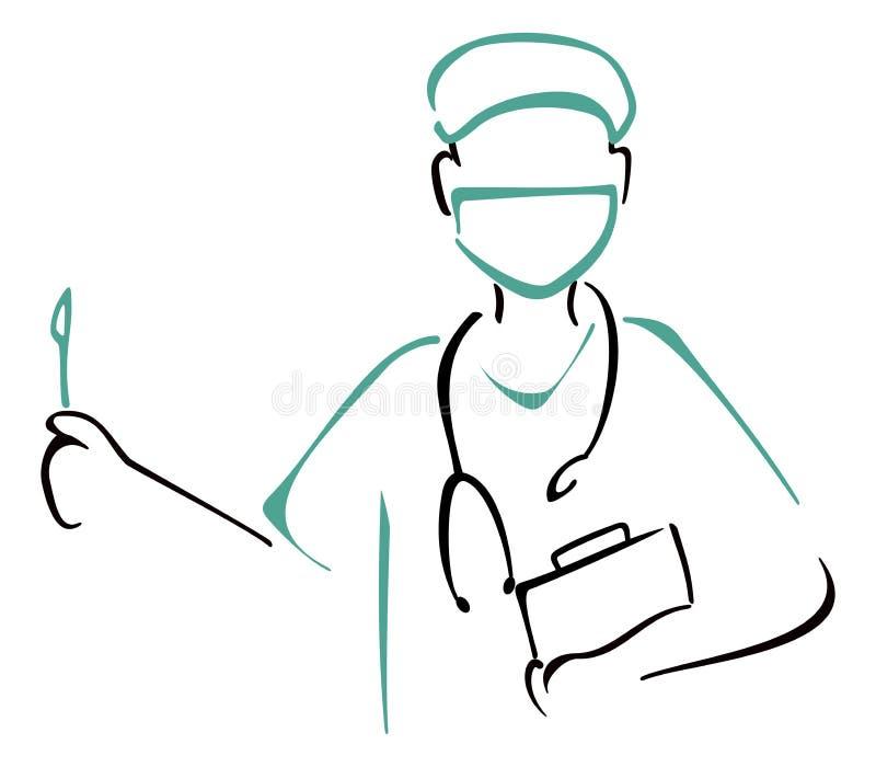 Vorbereiten zur Chirurgie vektor abbildung