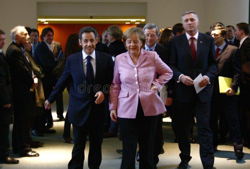 Vorbereitendes Gipfel G-20, Berlin stockbild