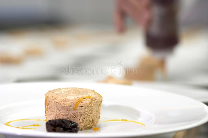 Vorbereitung der Nahrung stockfotografie