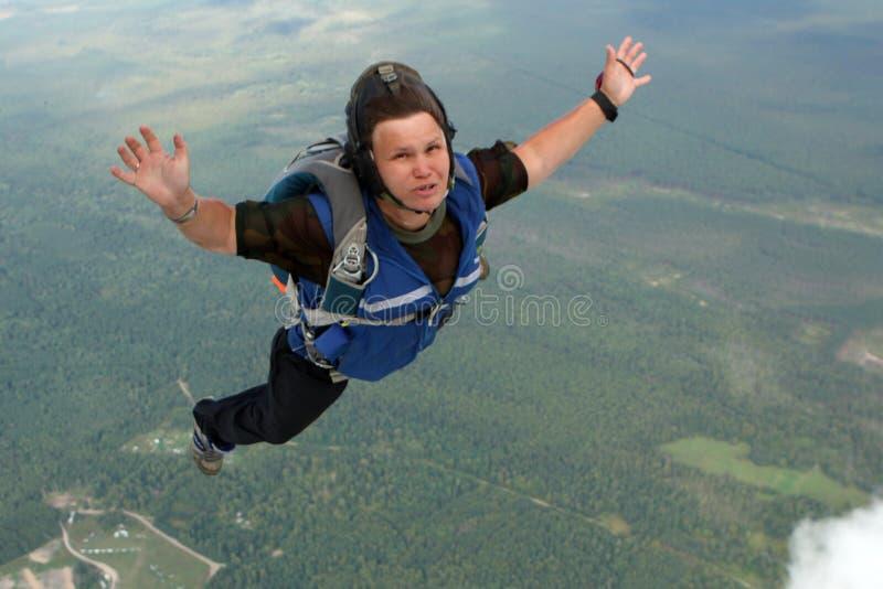 Vorbereitung Parachutists stockfoto
