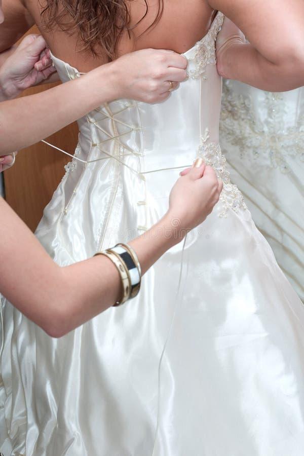 Vorbereitung zur Hochzeit stockbilder
