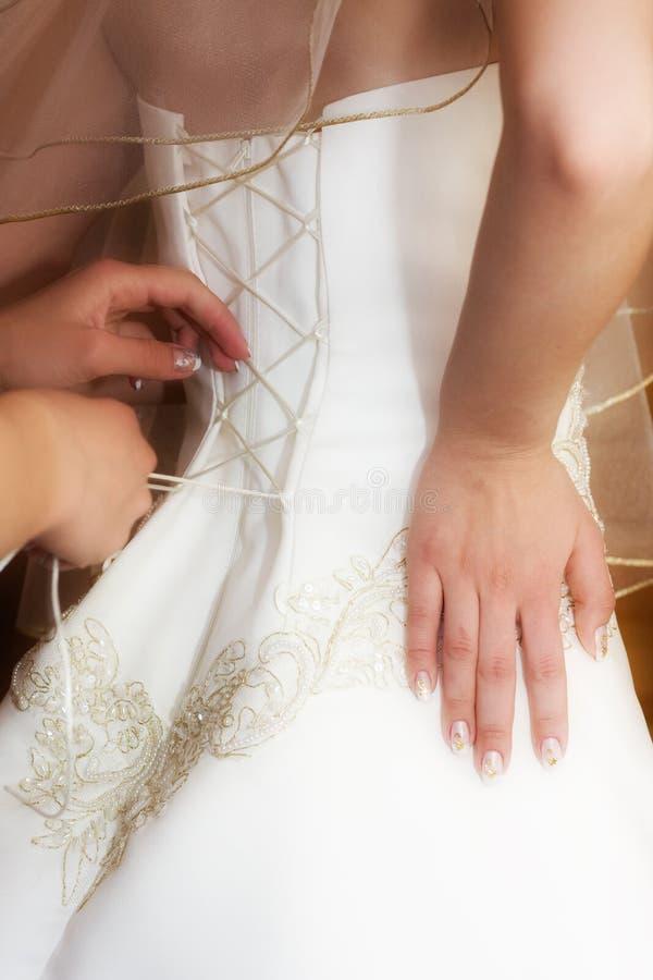 Vorbereitung zur Hochzeit stockfotografie