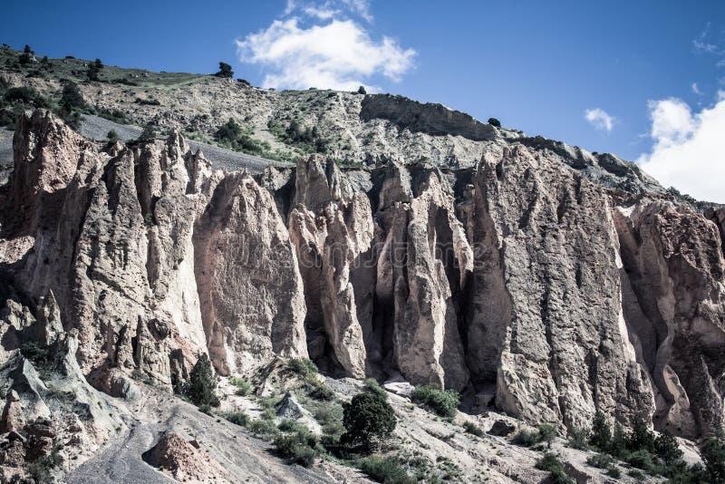Vorberge des Pamirs auf Tadschikistan lizenzfreie stockfotografie
