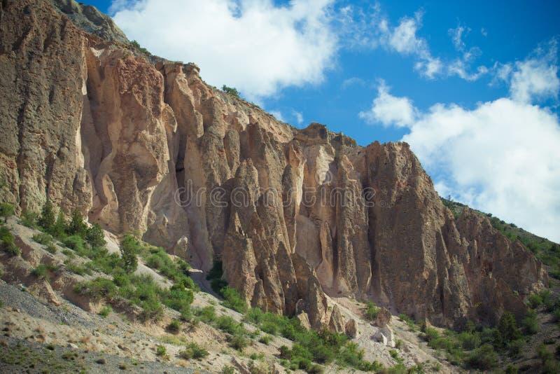 Vorberge des Pamirs auf Tadschikistan stockfoto