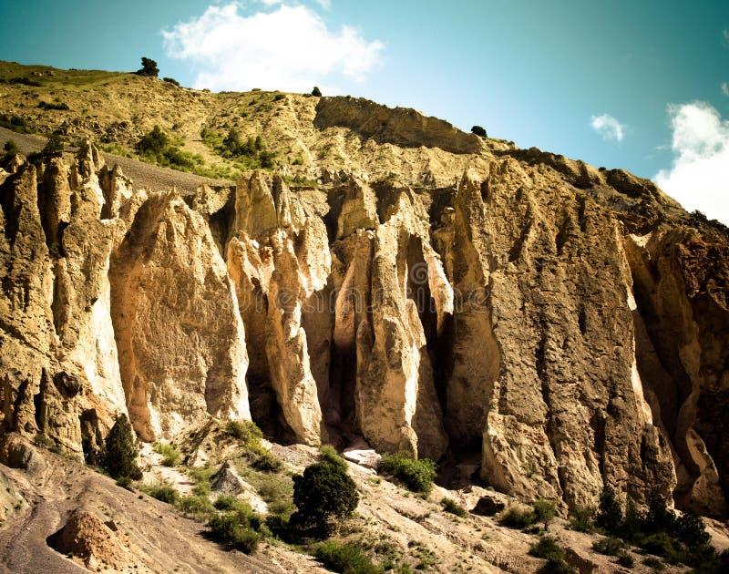 Vorberge des Pamirs auf Tadschikistan lizenzfreie stockbilder