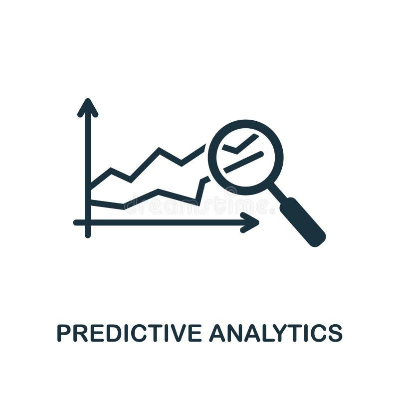 Vorbestimmte Analyticsikone Einfarbiger Artentwurf von Industrie 4 0 Ikonensammlung UI und UX Perfektes vorbestimmtes analytische vektor abbildung