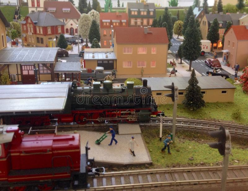 Vorbildliche Eisenbahn lizenzfreie stockbilder